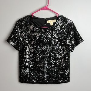 Michael kors sequin top size xs